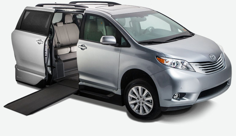 vmi toyota sienna handicap vans wheelchair vans for sale. Black Bedroom Furniture Sets. Home Design Ideas