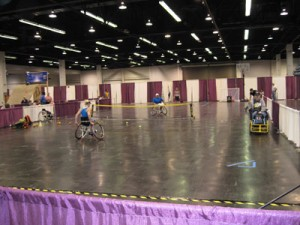 Wheelchair Tennis Demonstration Abilities Expo