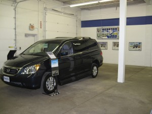Honda Odyssey with the VMI Northstar conversion Displayed at MobilityWorks
