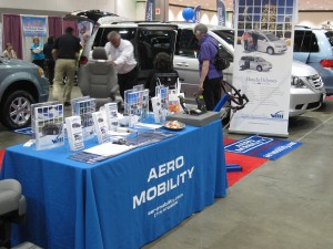Aero Mobility Booth at the LA Abilities Expo
