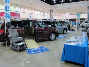 Wheelchair Vans in the Aero Mobility booth