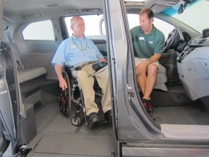 Mike demonstrating the 2011 VMI Honda Odyssey Northstar