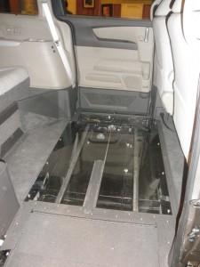 Lexan Flooring on the Northstar Wheelchair Van