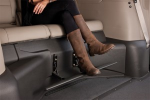 2012 VMI Honda Odyssey with the rear bench fold-down foot rest