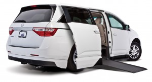 2012 Honda Odyssey with the 2-tone body color matched rear valance
