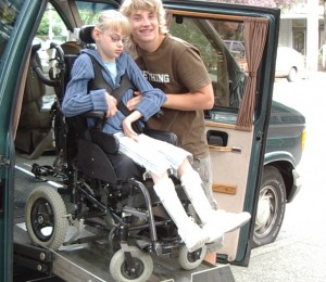 Brotherly Love to Child with Disabilities
