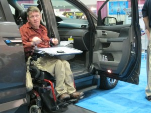 Checking out the VMI Vans at Los Angeles Abilties Expo