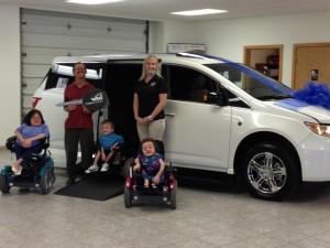 The beautiful Davert Family with Wheelchair Van
