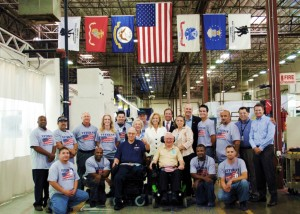 General Hickey with VMI Veteran Employees and Customers