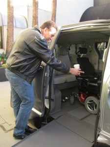 Dave Kunz checking out the VMI Toyota Access360 Northstar