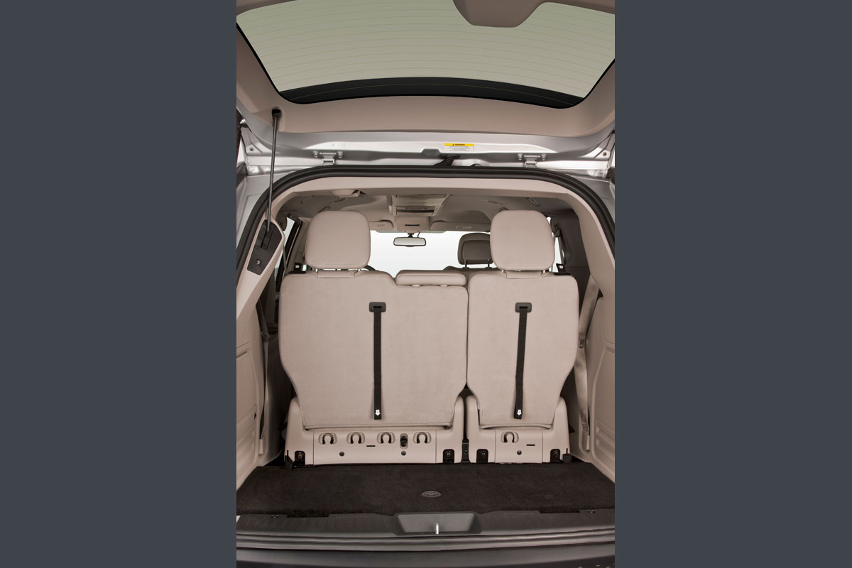 Back Seat Up of Chrysler Town Country Northstar Wheelchair Van