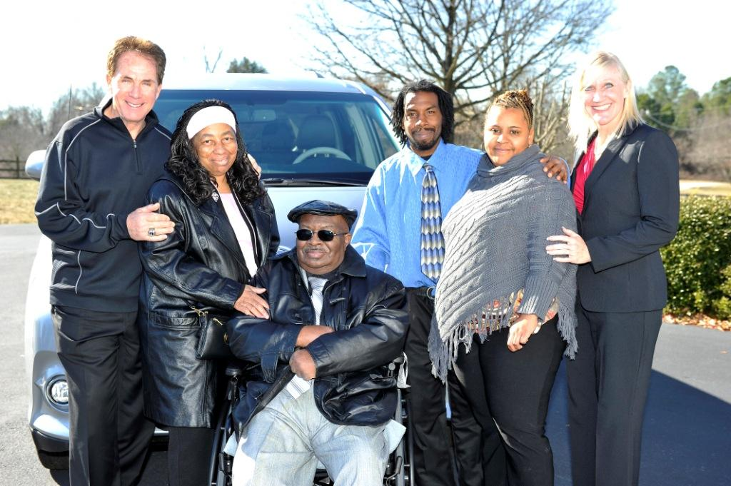 Darrell Waltrip, the Harvey Family and Monique McGivney - VMI Toyota Access360 Northstar Wheelchair Van