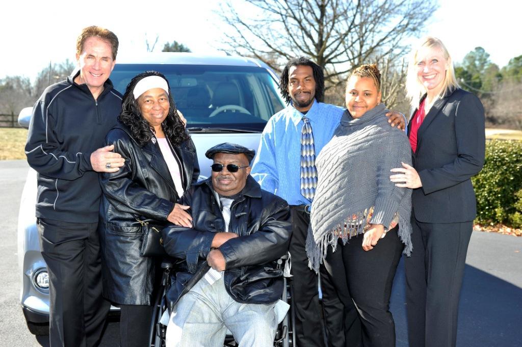 Darrell Waltrip, the Harvey Family and Monique McGivney - VMI Toyota Access360 Northstar Wheelchair Van