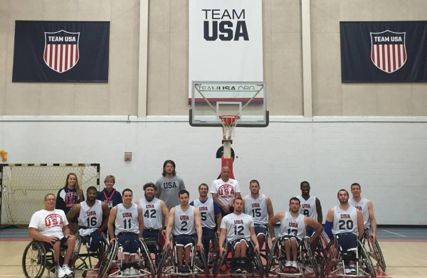 Wheelchair basketball paralympics team