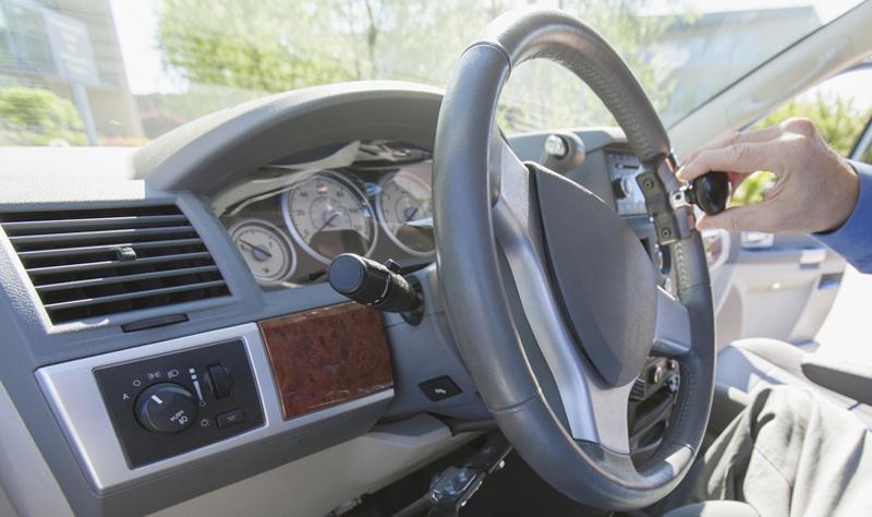 Steering Wheel Aids in Wheelchair Van