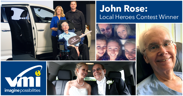 John Rose wins a wheelchair van