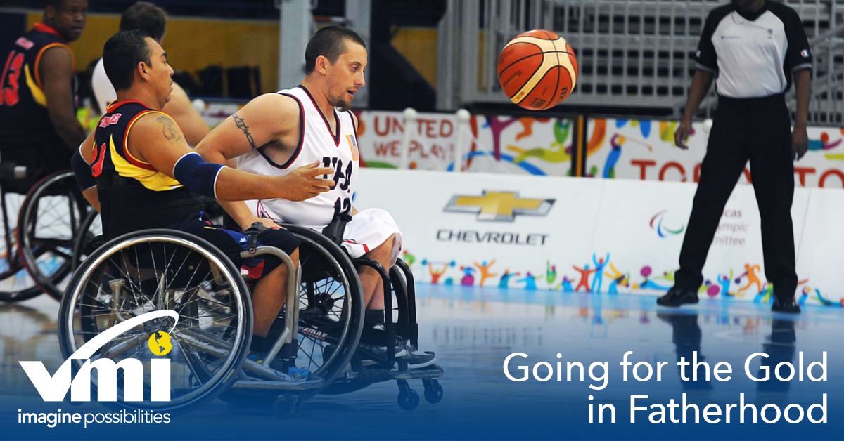 Wheelchair basketball paralympian John Gilbert discusses his job as a foster father