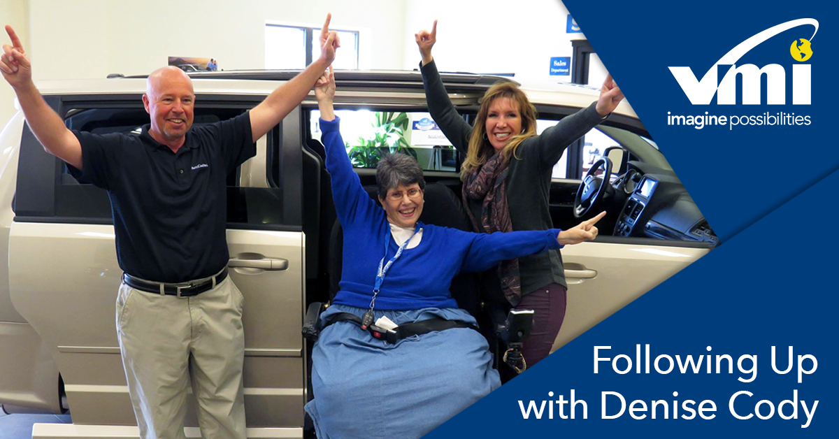 Woman wins free wheelchair van conversion at Vantage Mobility