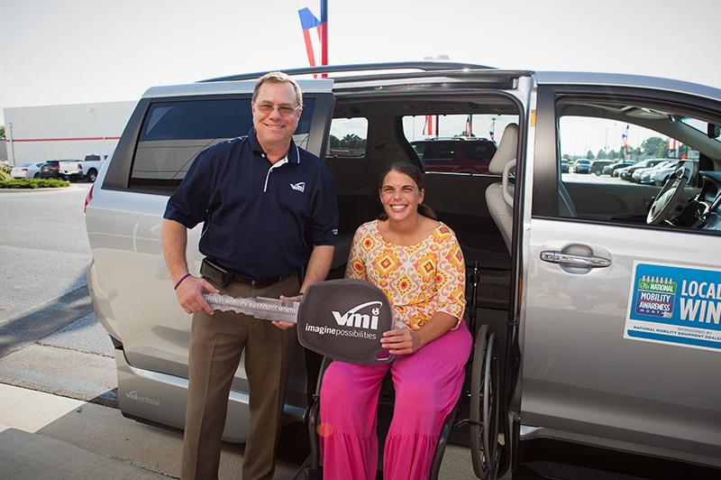 NMEDA Local Hero Contest winner is awarded a VMI van