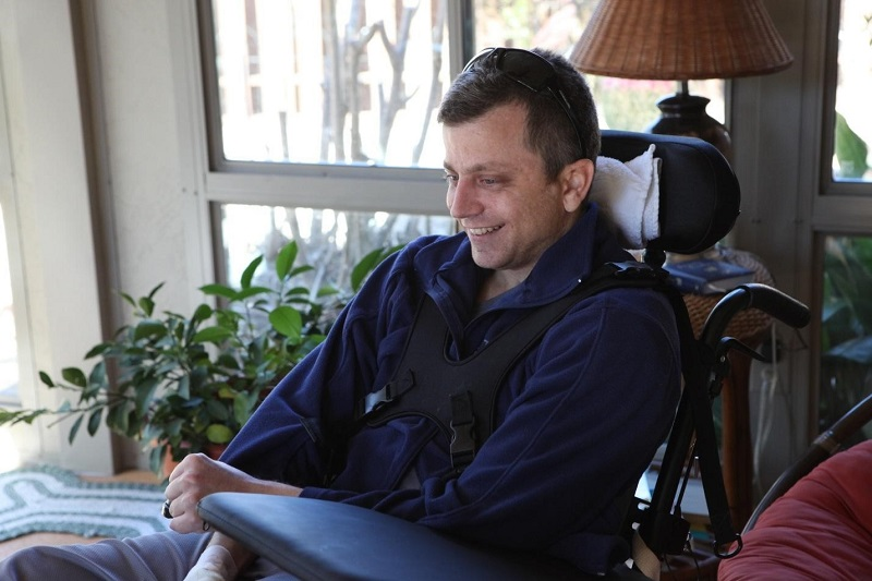 Joe Pascale in wheelchair.