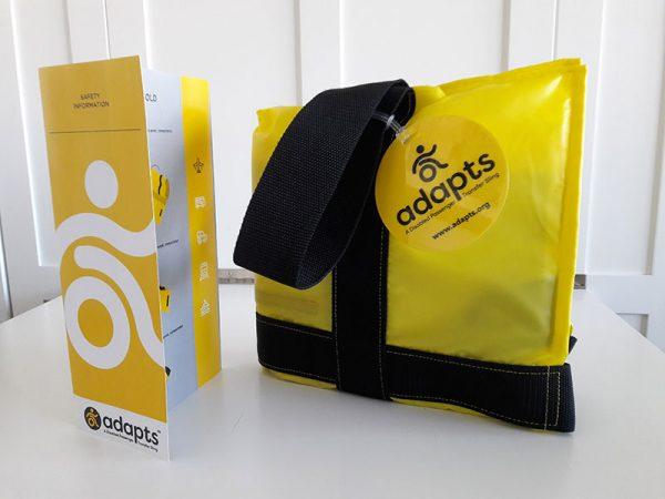 adapts disabled passenger transfer sling