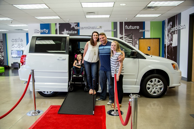 Family receives new VMI van